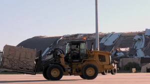 Supplies Arrive From the Sky at Tyndall Air Force Base