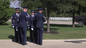 Goodfellow Honor Guard at Dallas-Fort Worth National Cemetary