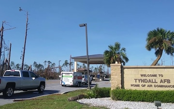 First Airmen Return to Tyndall to Assess Property Damage