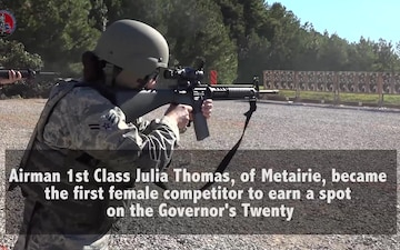 La. Guard Soldiers, Airmen aim for top marksmanship honors Air Guardsman becomes first female in state to make Governor's Twenty