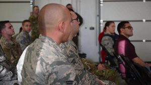 LACSD Community Outreach and Engagement Director visits the 569th United States Forces Police Squadron