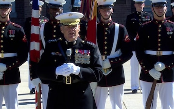 Medal of Honor Flag Presentation for SgtMaj John Canley