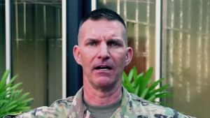 U.S. Army Reserve Soldier gives shoutout to his alama mater, LSU