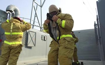 Fire Fighting Drills aboard Army Watercraft LCU-2027