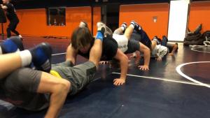 Wheaton College wrestlers endure leadership composition exercise