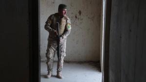 Iraqi Border Guard Force maneuvering in subterranean
