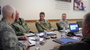 Air National Guard director meets with 182nd Airlift Wing Airmen