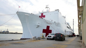SOUTHCOM senior leaders discuss USNS Comfort mission
