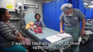 USNS Comfort Surgeons Perform a Frontalis Sling Procedure to Save Ecuadorian Child's Eyesight