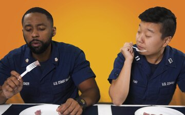 Coast Guard Members Try Historic Sailor Food