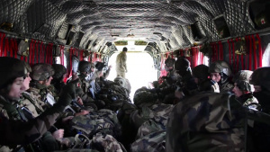 Trident Juncture 18, CH-47 Chinook Helicopter Cold Load Training B-Roll