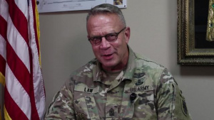 Command Sgt. Maj. Dennis Law gives USARCENTury shoutout