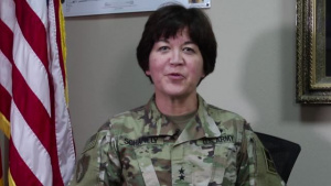Maj. Gen. Miyako Schanely, gives USARCENTury shoutout