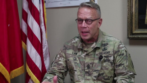 Command Sgt. Maj. Dennis Law Interview