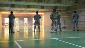 Air Force Security Forces Qualify in Army Range