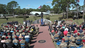 Master Sgt John Chapman MOH memorial reveal ceremony Part 1