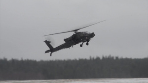 Trident Juncture 18 - AH-64 Apache Helicopter Traffic Pattern Training Flight