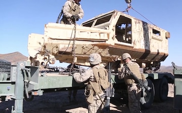 Transport under Tension | CLB-4 Marines conduct live-fire recovery missions during ITX 1-19