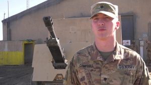 Holiday Greeting from Army Spc. Alexander Campbell of Paduka, KY