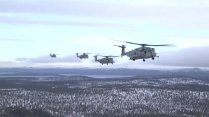 HMH-366 Inserts Norwegian Troops During Trident Juncture 18