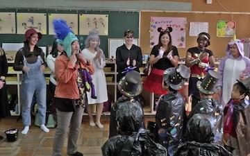 MCAS Iwakuni Service Members Share American Halloween with Ekimae Hoikuen Preschoolers (B-Roll)