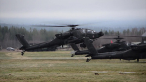 Trident Juncture 18 - AH-64 Apache Helicopter Formation Flight Training