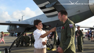 Young Newscaster interviews MQ-9 sensor