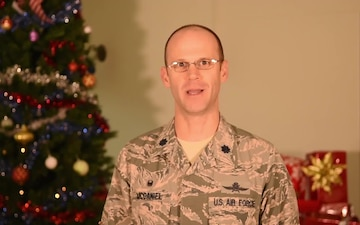 Lt. Col. Michael McDaniel Holiday Greeting