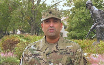 Sgt. 1st Class Ricky Jimenez Gives a New York Jets Shout Out to Friends and Family