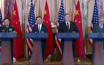 Secretary Pompeo Holds Joint Press Availability with Secretary of Defense James Mattis, Chinese Politburo Member Yang Jiechi and Chinese State Councilor and Defense Minister General Wei Fenghe