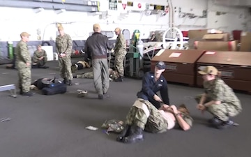 USS Abraham Lincoln Conducts Mass Casualty Drill