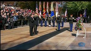 DOD, VA Secretaries Commemorate Veterans Day at Arlington