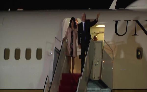 B-Roll: Vice President Arrives at Yokota AB