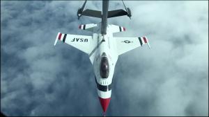KC-10 Extender refuels Thunderbirds over Texas coast
