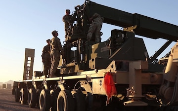 Rough Terrain Container Handler heading to the border