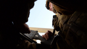 Security Forces at Bagram - Flightline Security BROLL