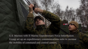 MARINES ASSEMBLE EXPEDITIONARY COMMUNICATION SUITES