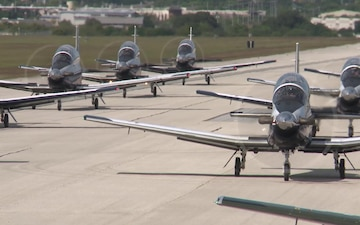 T-6A Texan II Elephant Walk (B-roll)