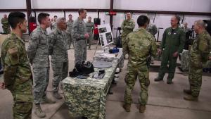 Maj. Gen. Weatherington 97 AMW visit