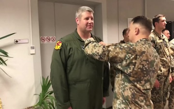 Michigan Air National Guardsmen decorated by Latvia's Land Forces Brigade Commander