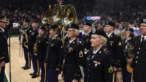 Army Band Performs at Basketball Game