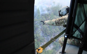 Camp Fire aerial footage from Cal Guard UH-60M Black Hawk: Nov. 15, 2018