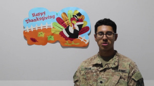 U.S. Army Central Soldiers Thanksgiving Day Shoutouts