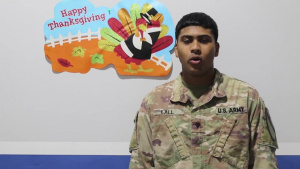 U.S. Army Central Soldiers send Thanksgiving shoutouts