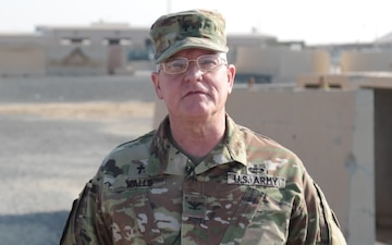 Col. Tim Walls sends a greeting from Kuwait