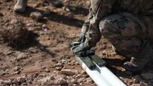 Explosive Ordnance Disposal Technicians Destroy Unexploded Ordnance