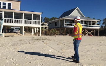 B-ROLL Long Hours and Lots of Travel: Corps of Engineers Employee Stays Motivated While Conducting Blue Roof Assessments in the Florida Panhandle