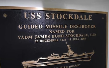 Cmdr. and crew members of USS Stockdale (DDG 106) comment regarding their ship's namesake