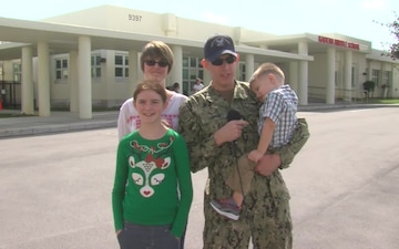 US Navy Chief Joshua Lawson and family