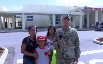 US Army Sgt. Maj. Nigel Fagaragan and family